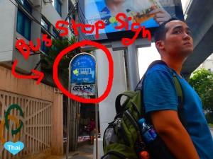 Bus Stop Sign in Thailand   LoveThaiMaak.com