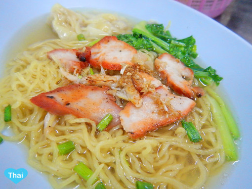 Bangkok Chinatown For Foodies Egg Noodle Soup With Red Pork