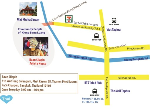 Things To Do In Bangkok With Love Thai Maak Baan Silapin Artist House Map