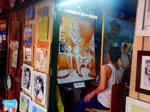 Things to do in Bangkok with Love Thai Maak Baan Silapin Artist House Paintings