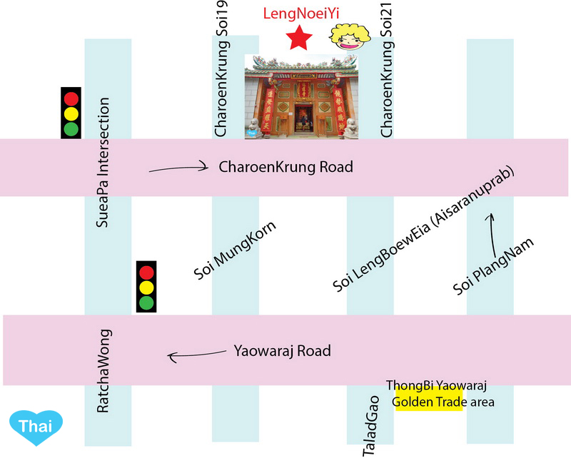 Wat Mangkon Kamalawat Chinatown Bangkok | Love Thai Maak Map Direction