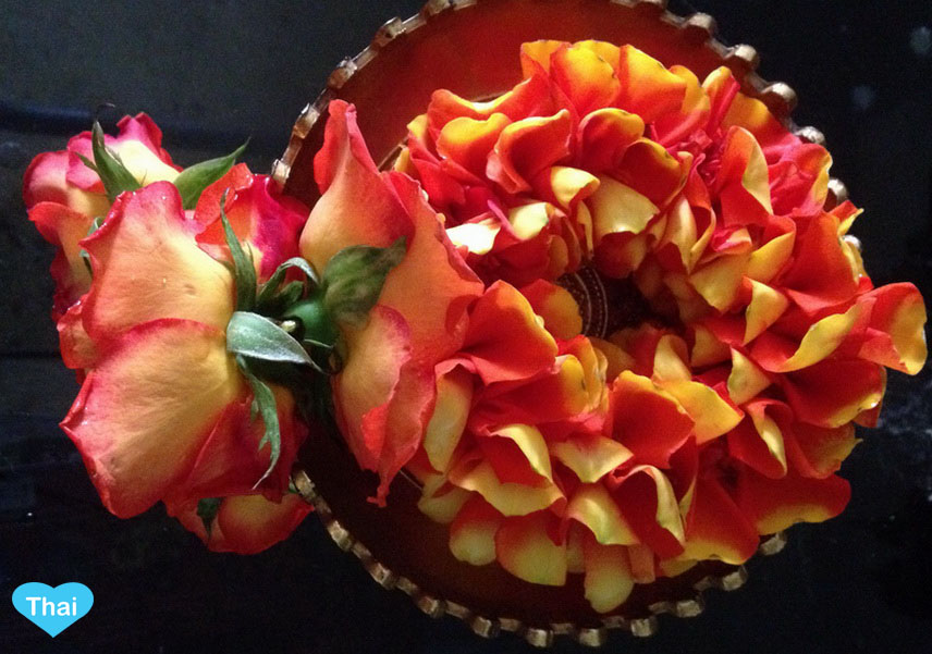 Things To Know Beyond Thailand Tourism : The Colorful Garland orange from rose petals by Love Thai Maak