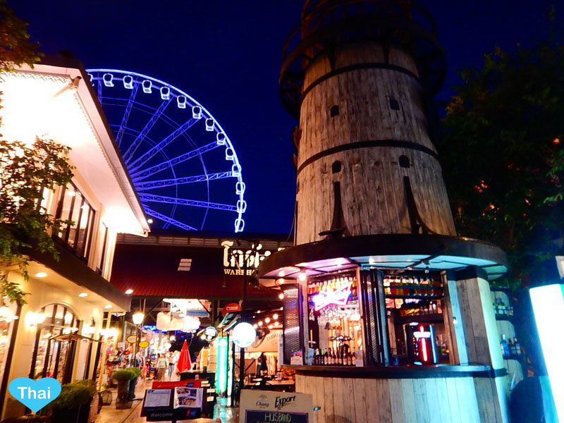 things to do in bangkok night market at Asiatique the riverfront by Chaopraya river | Love Thai Maak