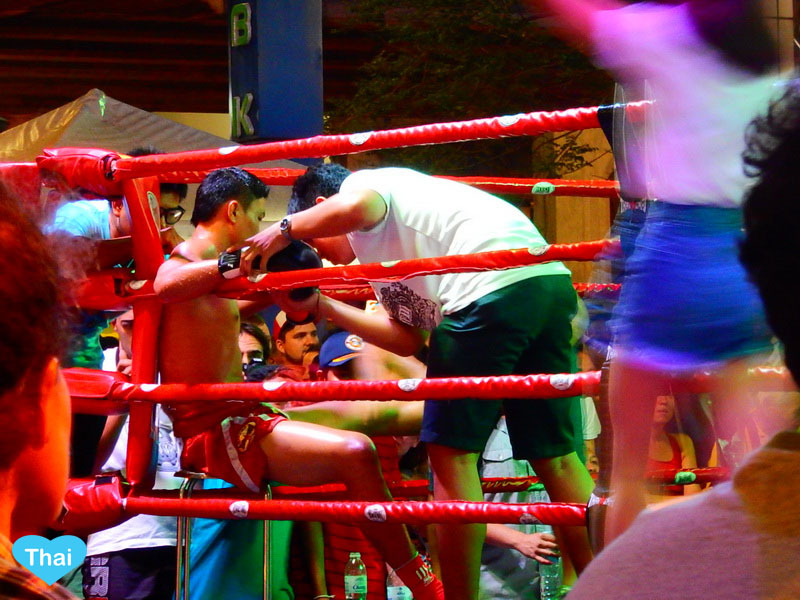 Things to do in Bangkok by Love Thai Maak | Free Muay Thai at MBK Fight Night  during kick boxing match