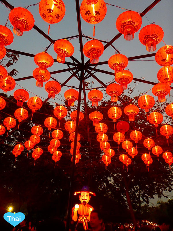 Chinese New Year Celebration in Thailand | Love Thai Maak Red decoration for celebrating
