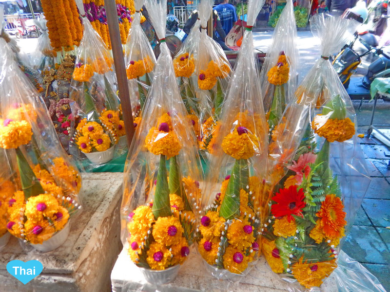 Things To Do In Thailand: Bangkok's Biggest Flower Market Pak Khlong Talat Traditional Baci Thai Products For Buddhists