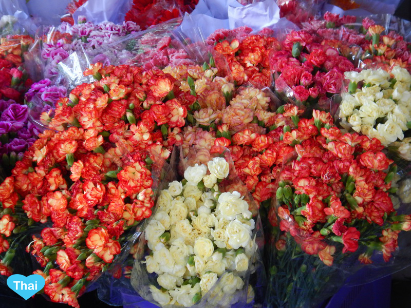 Things To Do In Thailand: Bangkok's Biggest Flower Market Pak Khlong Talat Colorful Carnations From Thai Local Flower Farms